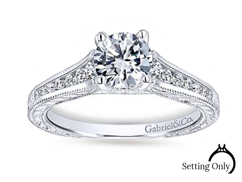 Engagement Mounting by Gabriel & Co