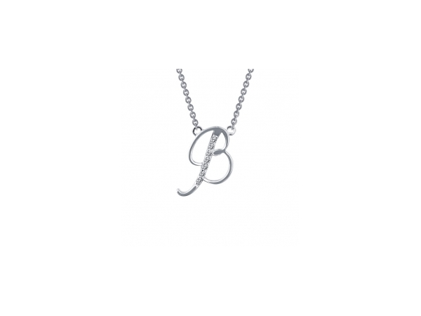 lafonn lassaire letter b necklace 001 630 01476 silver and gemstone pendant from stambaugh jewelers defiance oh