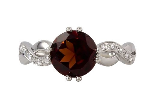 Garnet and Diamond Fashion Ring by Rego