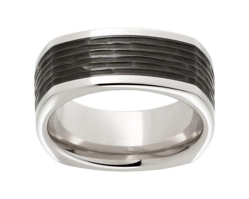 Serinium™ square wedding band by Jewelry Innovations