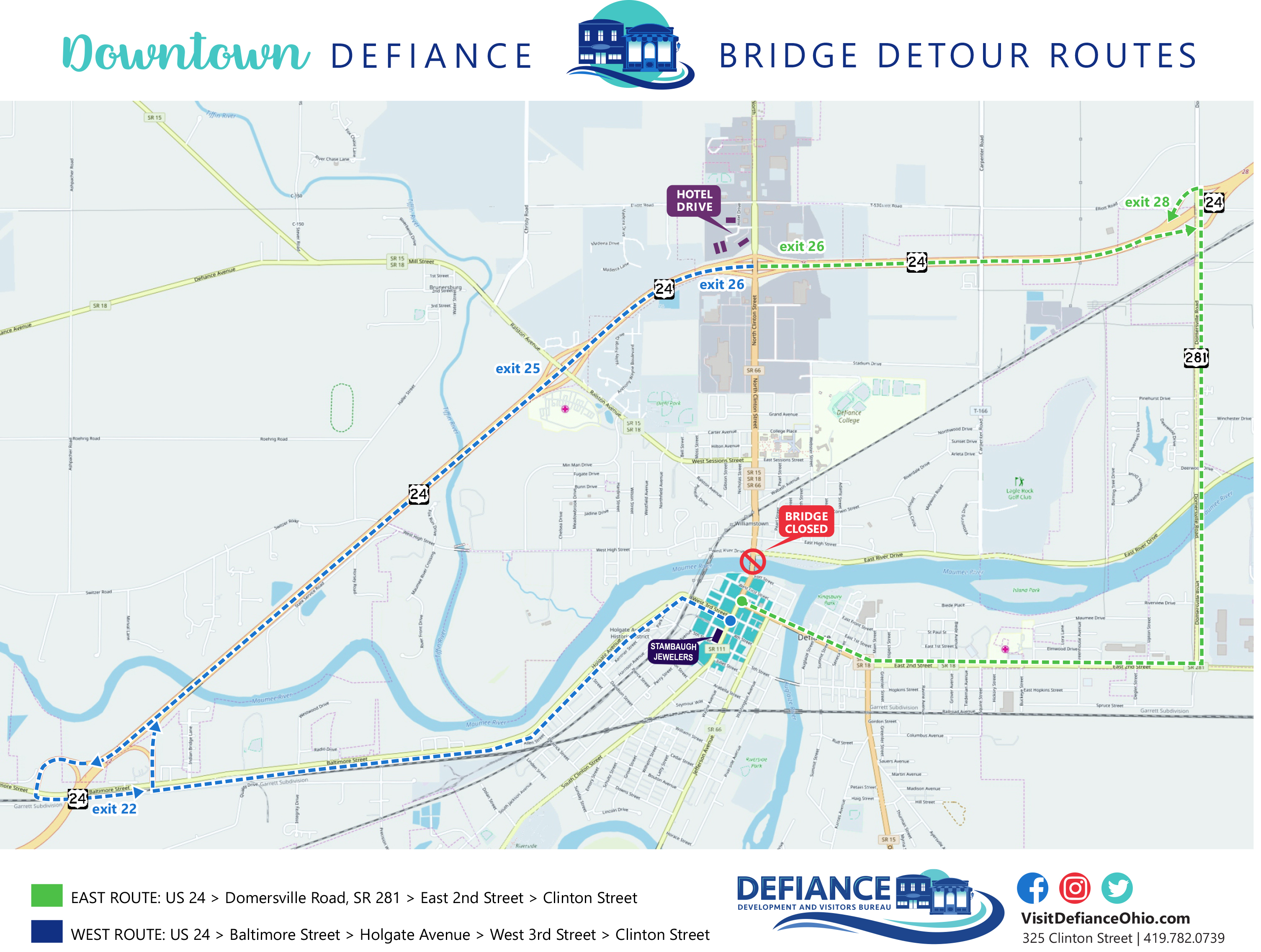Clinton Street Bridge Closure Detour